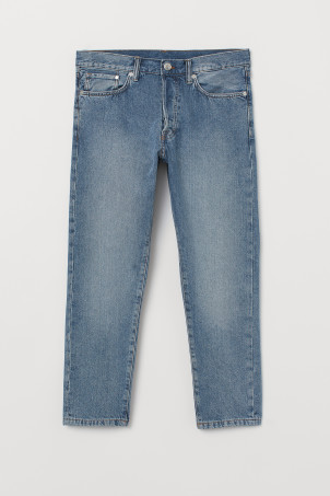 Slim Straight Cropped JeansModel