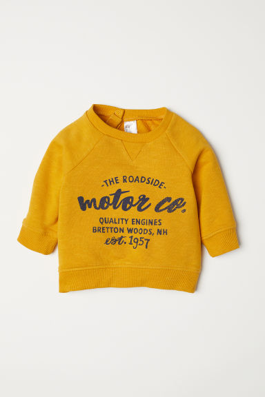 Sweatshirt - Yellow - Kids | H&M