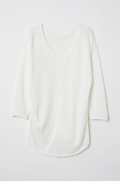 MAMA Knitted jumper - White - Ladies | H&M