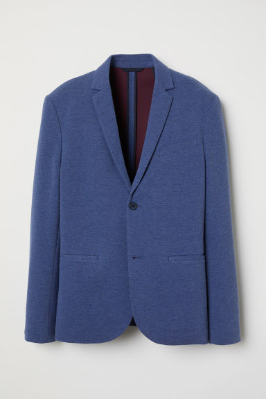 Jersey jacket Slim Fit - Blue marl -  | H&M CN