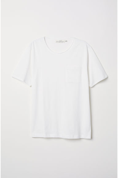 T-shirt met borstzak - Wit - HEREN | H&M BE