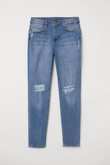 Petite Fit Girlfriend Jeans - Azul denim - MUJER | H&M ES