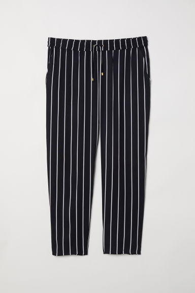 H&M+ Pull-on trousers - Black/Striped - Ladies | H&M CN