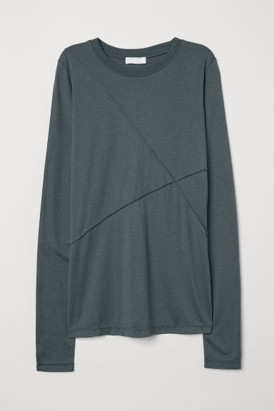 Silk-blend top - Petrol - Ladies | H&M CN