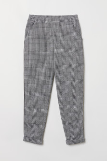 Ankle-length pull-on trousers