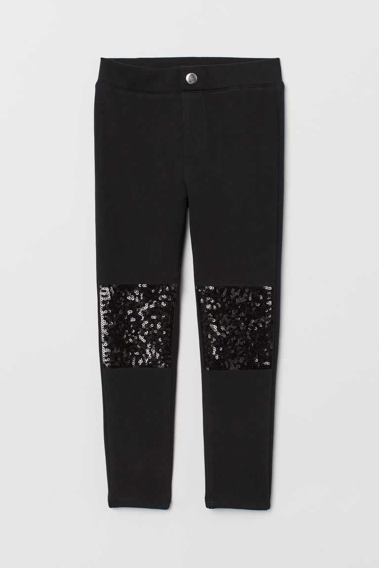 Treggings - Black/Sequins - Kids | H&M GB