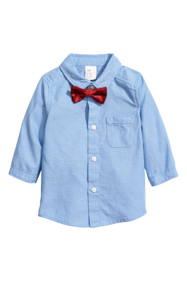 Shirt and bow tie - Light blue/Red - Kids | H&M CN
