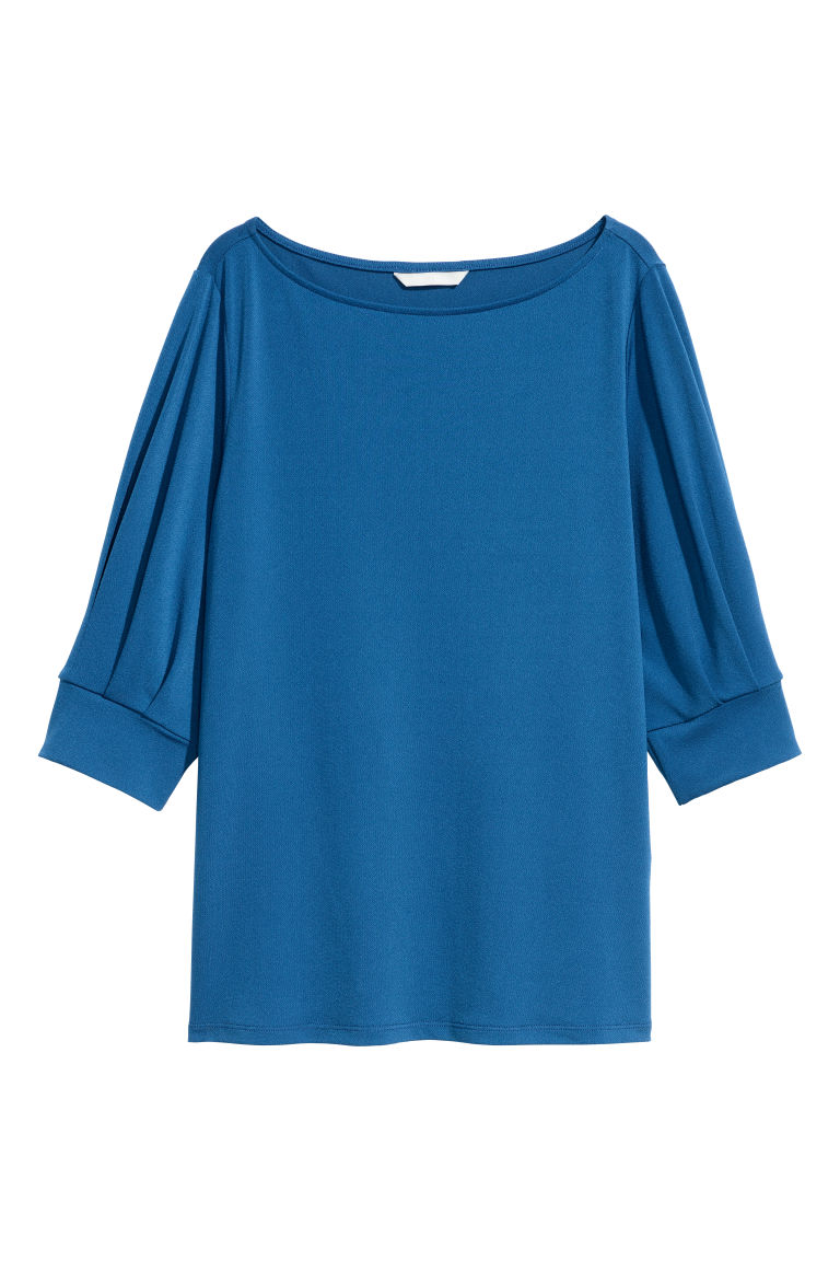 Top in tessuto increspato - Blu fiordaliso - DONNA | H&M IT