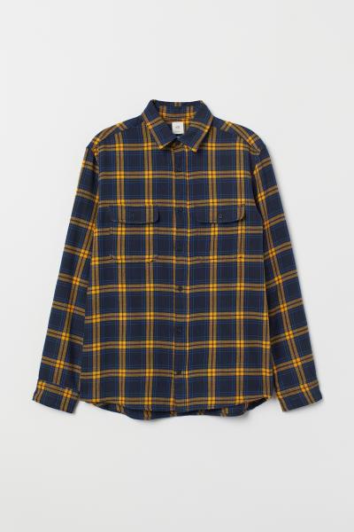 H&M - Camisa de franela Regular Fit - 5