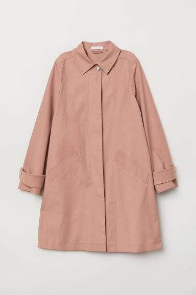 Cotton coat - Powder pink - Ladies | H&M CN