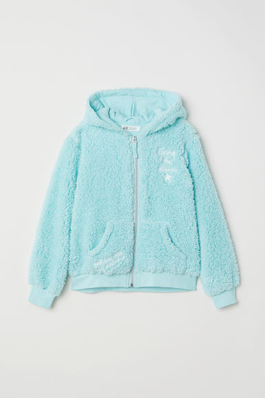 Pile hooded jacket - Turquoise - Kids | H&M CN