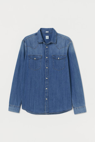 Camicia in denim Regular fitModal
