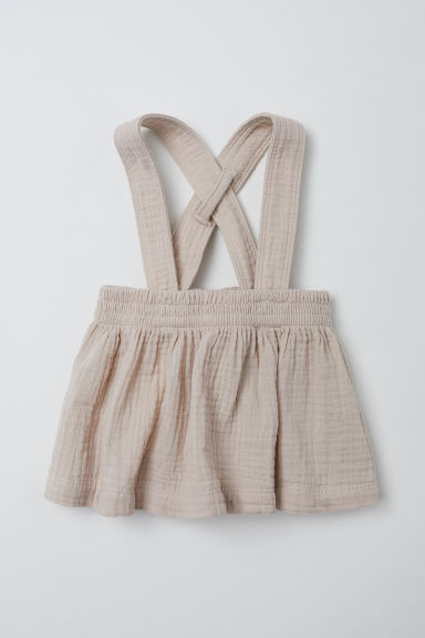 Cotton skirt with straps - Light beige - Kids | H&M