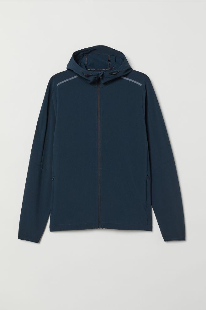 2aeb4ad5c52b Hooded Winter Running Jacket - Dark blue - Men