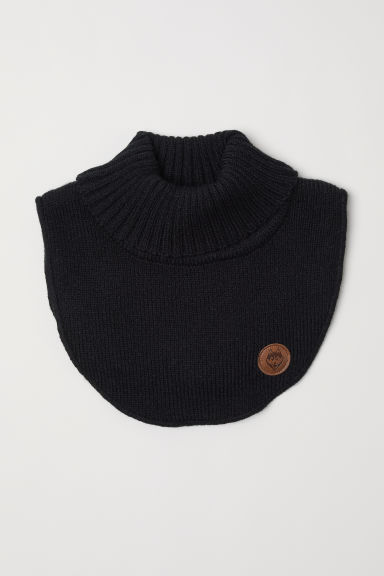 Knitted polo-neck collar - Black -  | H&M