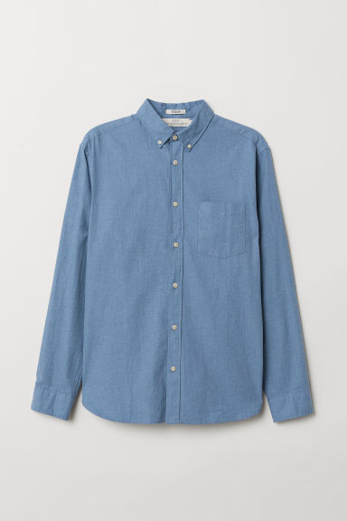 Camicia in cotone Regular fit - Blu - UOMO | H&M IT