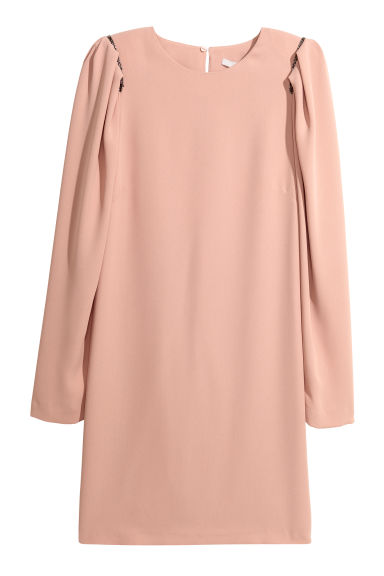 Puff-sleeved dress - Powder pink - Ladies | H&M CN