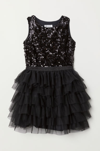 Tulle dress - Black - Kids | H&M