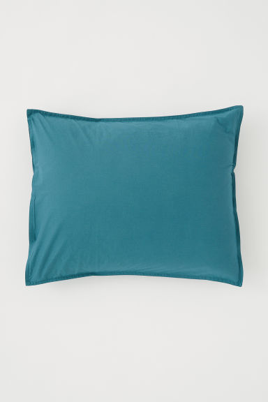 Washed cotton pillowcase - Petrol - Home All | H&M CN
