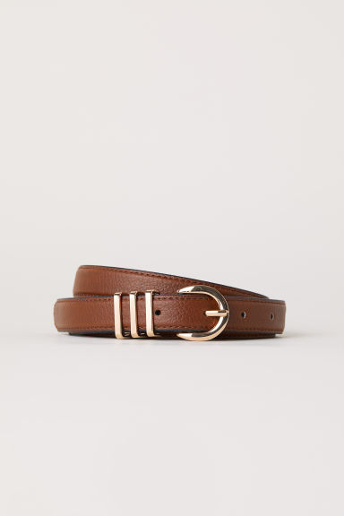 Narrow belt - Brown -  | H&M