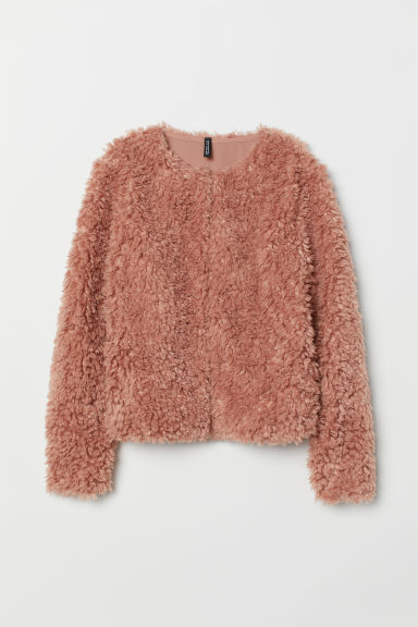 Giacca in pelliccia sintetica - Rosa vintage - DONNA | H&M IT