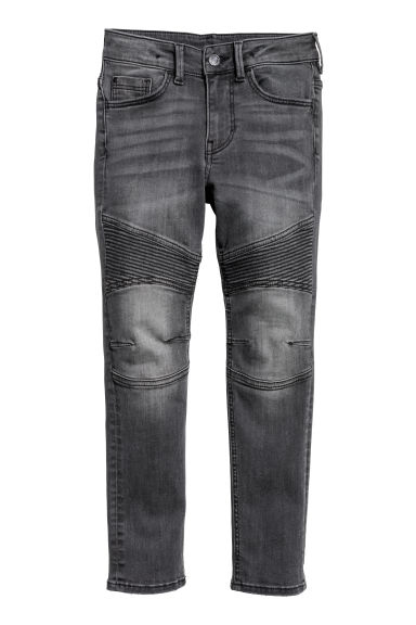 Skinny fit Biker jeans - Black washed out - Kids | H&M CN