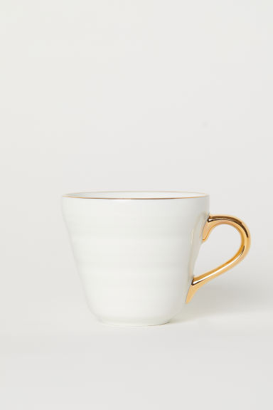 Liten mugg i porslin - Vit - Home All | H&M FI