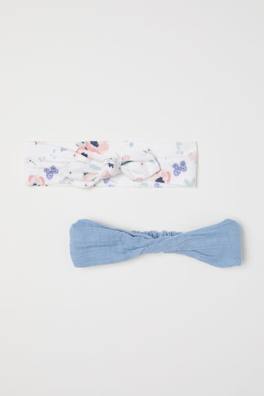 2-pack hairbands - Light blue - Kids | H&M CN