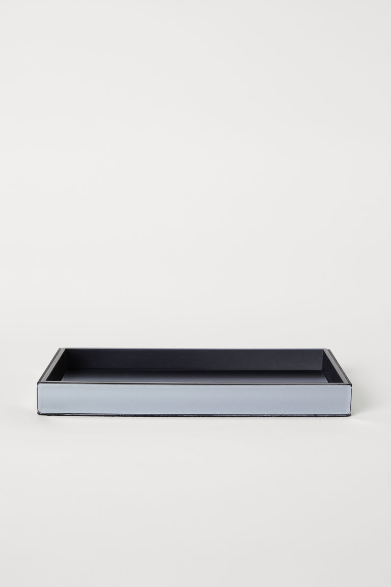 Tray with mirrored glass - Dark grey - Home All | H&M CN