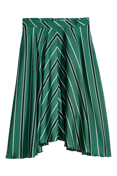 Bell-shaped skirt - Dark green/Striped - Ladies | H&M