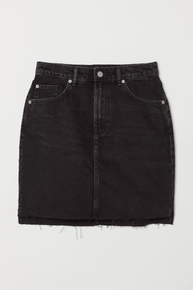 Short denim skirt - Black - Ladies | H&M
