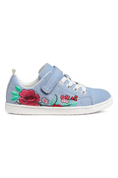 Trainers - Blue/Flowers - Kids | H&M CN