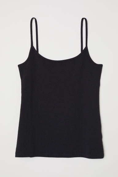 Jersey strappy top - Black -  | H&M