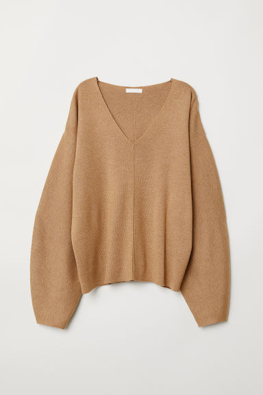 Fine-knit Sweater - Camel - Ladies | H&M US