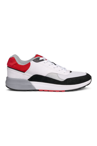 Mesh trainers - White/Red - Men | H&M