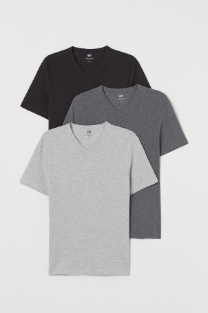 3-pack T-shirts Slim FitModel