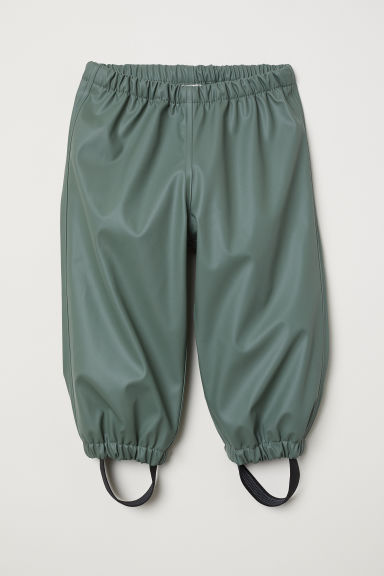 Fleece-lined rain trousers - Khaki green - Kids | H&M CN