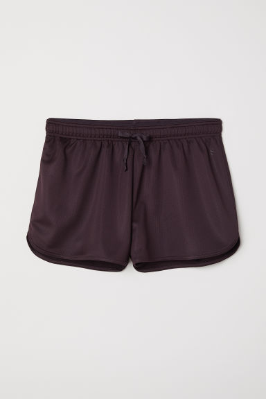 Sports shorts - Dark purple - Ladies | H&M