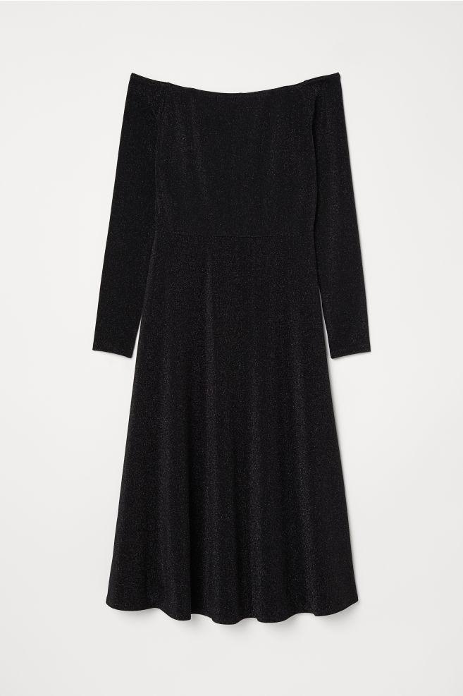 ... Off-Shoulder-Kleid - Schwarz - Ladies   H M ... 312a900618