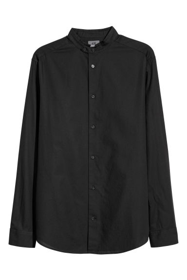 Grandad shirt Regular fit - Black -  | H&M GB