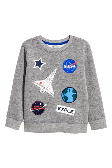 Sweatshirt - Grey/NASA - Kids | H&M CN