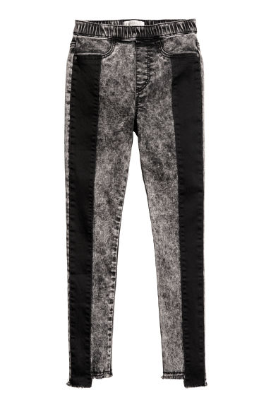 Treggings with details - Dark grey - Kids | H&M