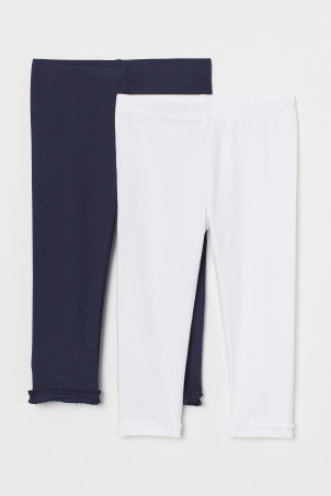 2er-Pack Leggings in 3/4-Länge