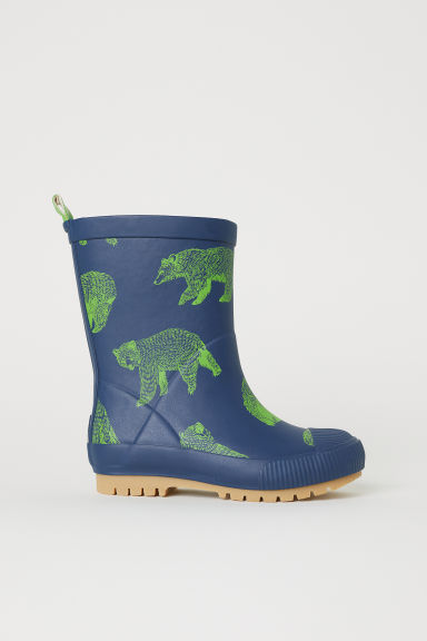 Patterned wellingtons - Dark blue/Bears - Kids | H&M CN