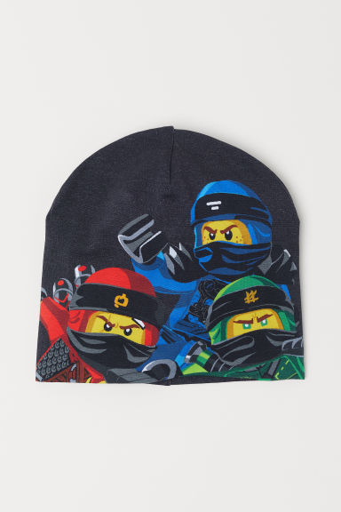 Printed jersey hat - Dark grey/Ninjago - Kids | H&M