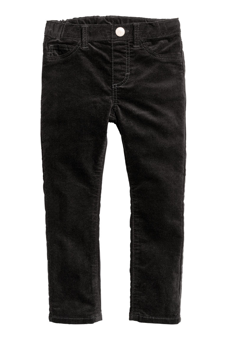 Velvet trousers - Black - Kids | H&M CN