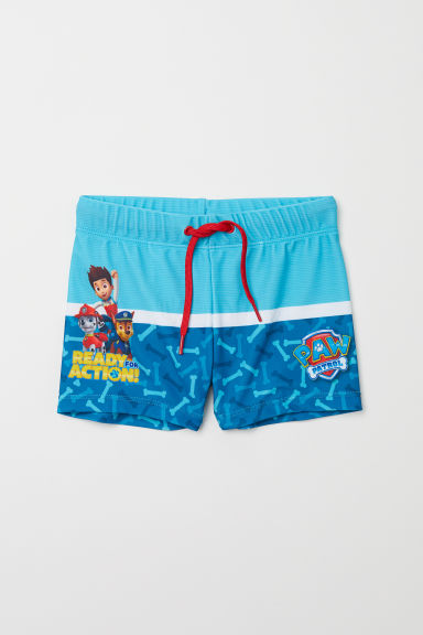 Printed Swim Trunks - Turquoise/Paw Patrol - Kids | H&M CA