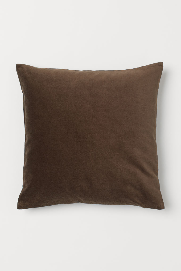 Velvet Cushion Cover - Dark brown - Home All | H&M US