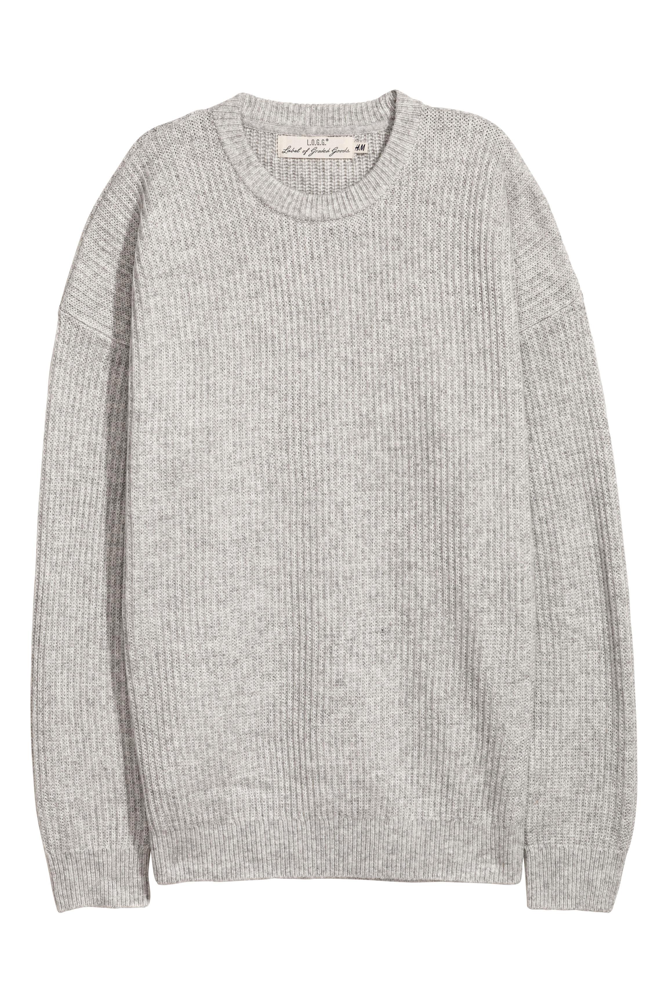 d66d6f9667ea15 Oversized Sweater - Gray melange - Men