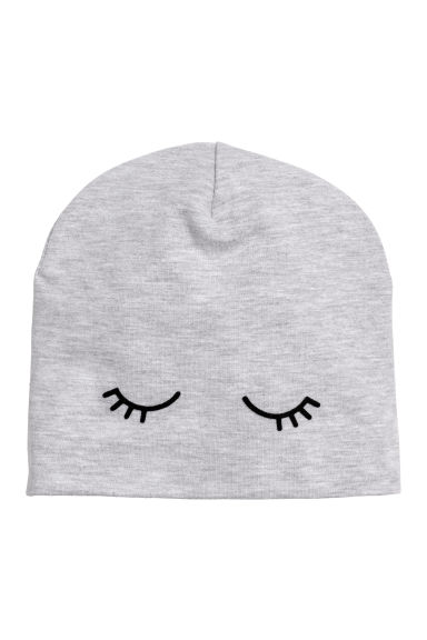 Jersey hat - Light grey/Eyes -  | H&M CN